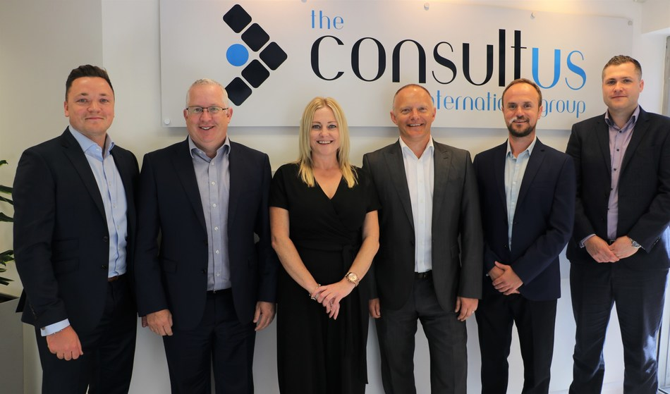 (From left to right) Bradley Wilson, Associate Director Sales & Marketing, Andrew Staley, CEO, Alison Whiteman, Associate Director Customer Services, David Peake, Chief Commercial Officer, Ed Gray, Chief Technology Officer, Adam Madeley, Associate Director Operations