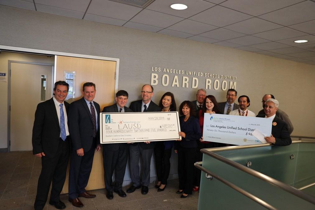 SoCalGas, Metropolitan Water District, LADWP Award $578,500