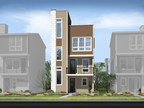 Richmond American's three-story Greenwich plan at Cityscape at Highline boasts contemporary curb appeal.