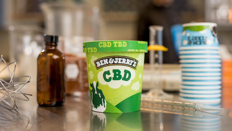 Ben & Jerry's intends to make CBD-infused ice cream available once it's legalized at the federal level. CBD, TBD.