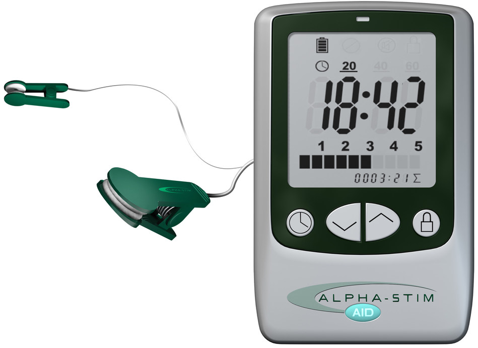 The Alpha-Stim AID is a non-drug, prescription medical device (prescription not required outside the U.S.) designed for easy, at-home use. It is FDA cleared to provide fast, safe and effective treatment of anxiety without the risk of addiction or lasting side effects. There are more than 100 clinical research studies over 38 years that prove the effectiveness of this low-level, pain-free, electrical brain therapy.