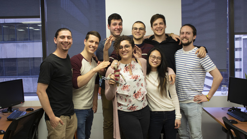 Winners of Entertainment Software Association of Canada's Student Video Game Competition 2019 #SVGC2019. A team of students representing Université du Québec en Abitibi Témiscamingue (UQAT) and Université du Québec à Montréal (UQAM) teamed up to build the game Cut Loose.  Originally built for Ubisoft's 2019 Game Lab Competition, the project earned Ubisoft's prize for best artistic direction and production as well as the public choice award. (CNW Group/Entertainment Software Association of Canada)