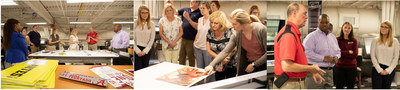 Participants learn printing techniques at The University of Alabama's Print Camp.