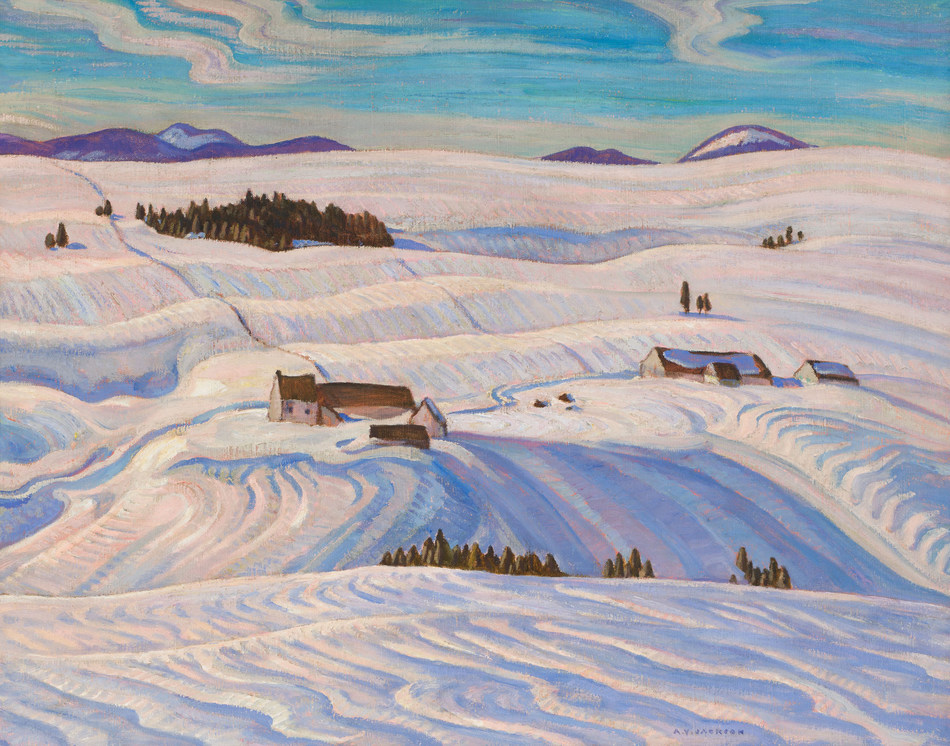 Laurentian Hills by A.Y. Jackson was consigned by the Art Gallery of Ontario and fetched $451,250 at the Heffel auction. (CNW Group/Heffel Fine Art Auction House)