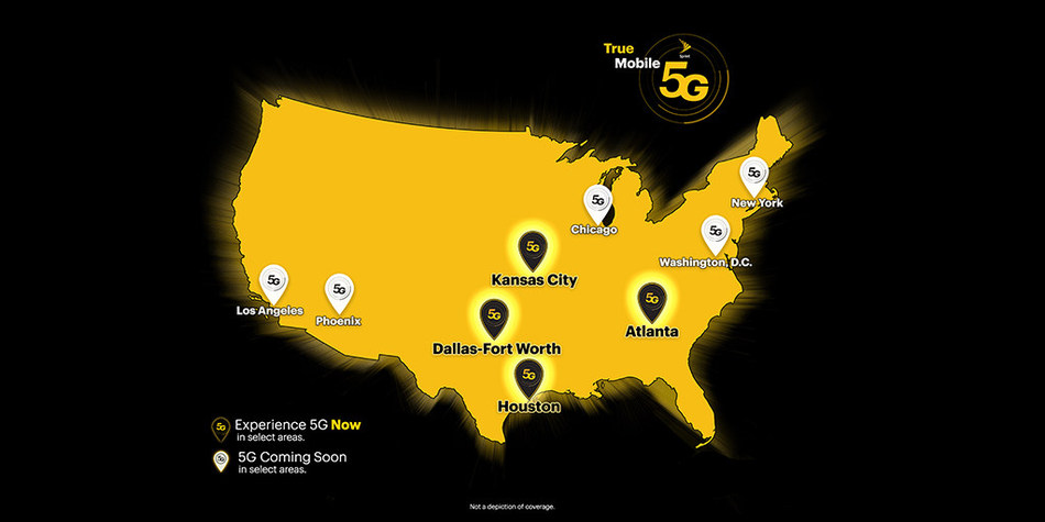 Sprint unveils largest initial 5G footprint in the U.S., covering approximately 2,180 square miles and 11.5 million people across 9 market areas