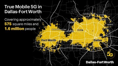 La próxima generación de servicio inalámbrico ya está aquí; cubre aproximadamente 575 millas cuadradas y llega a 1.6 millones de personas en el área del gran Dallas-Fort Worth.