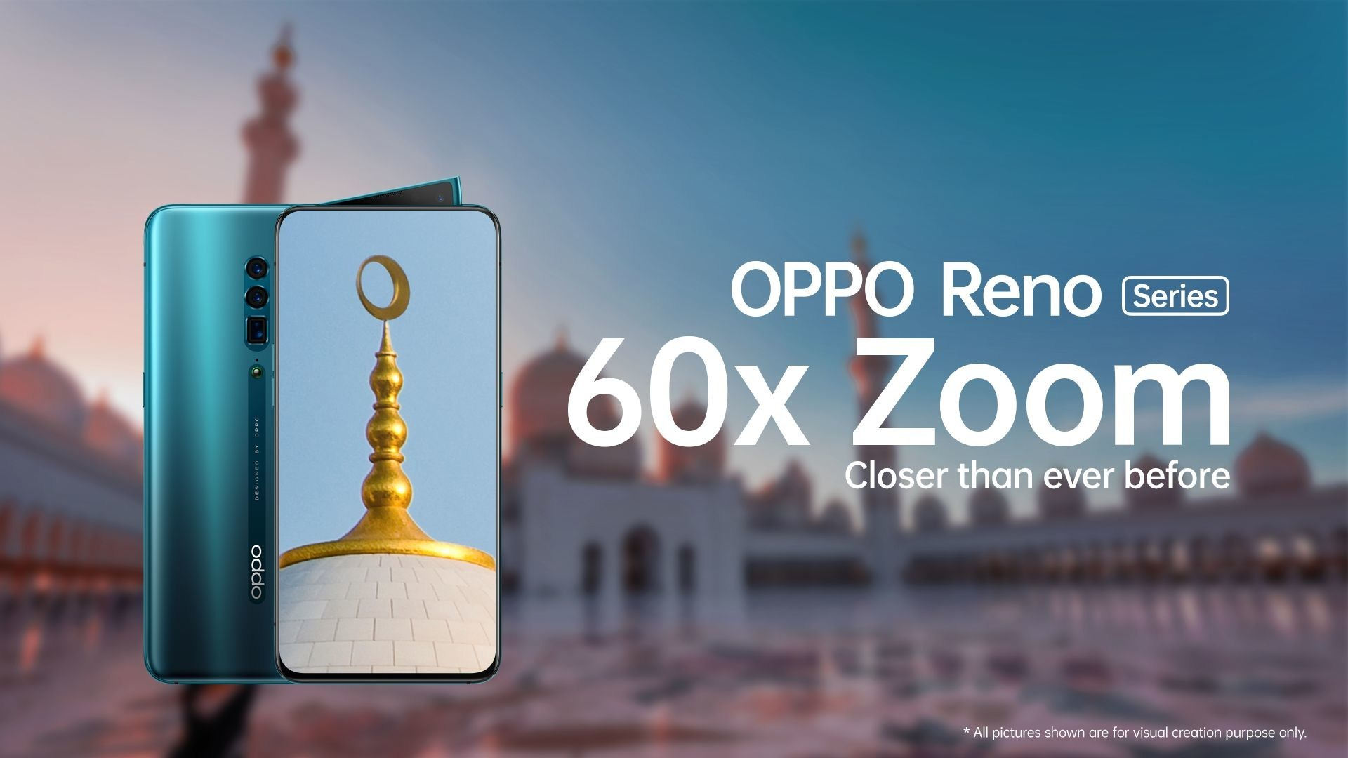 First Ever 60x Digital Zoom Technology Realized on OPPO Reno