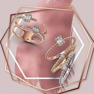 Diamond rings by Able Jewelry Mfg Ltd