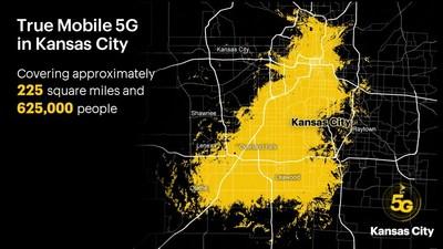 La próxima generación de servicio inalámbrico ya está aquí, cubre aproximadamente 225 millas cuadradas y llega a 625,000 personas desde el centro de la ciudad de Kansas hasta Overland Park. (PRNewsfoto/Sprint)