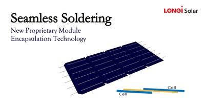 Soldadura sin costuras (Seamless Soldering) (PRNewsfoto/LONGi Solar)