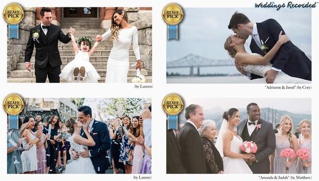 Weddings Recorded Photo Examples