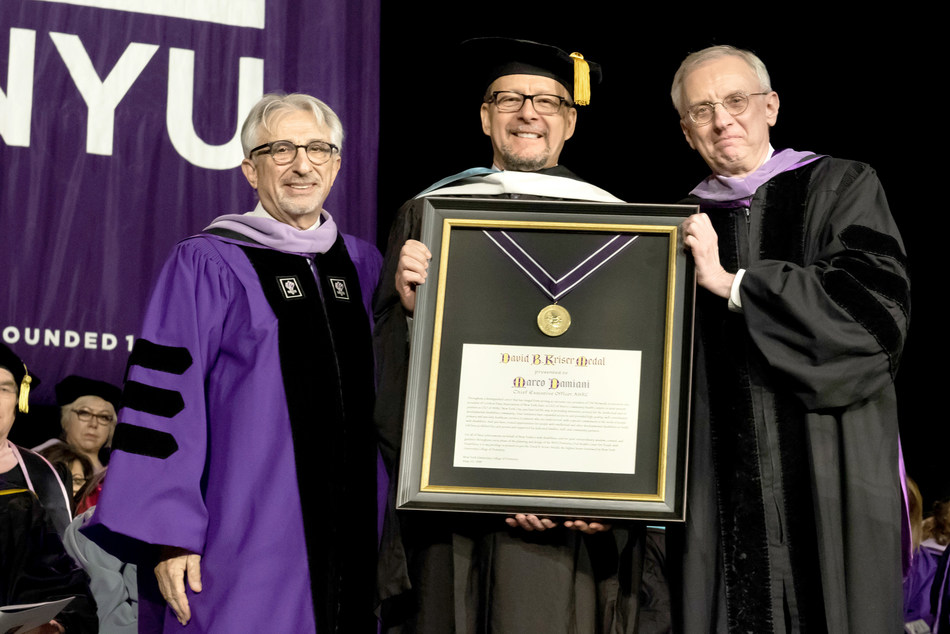Marco Damiani, CEO of AHRC New York City,  Receives the Kriser Medal from the NYU College of Dentistry