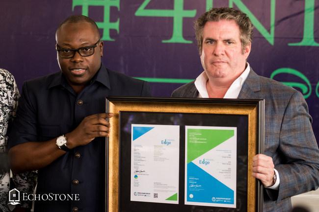EchoStone Receiving IFC EDGE Certification