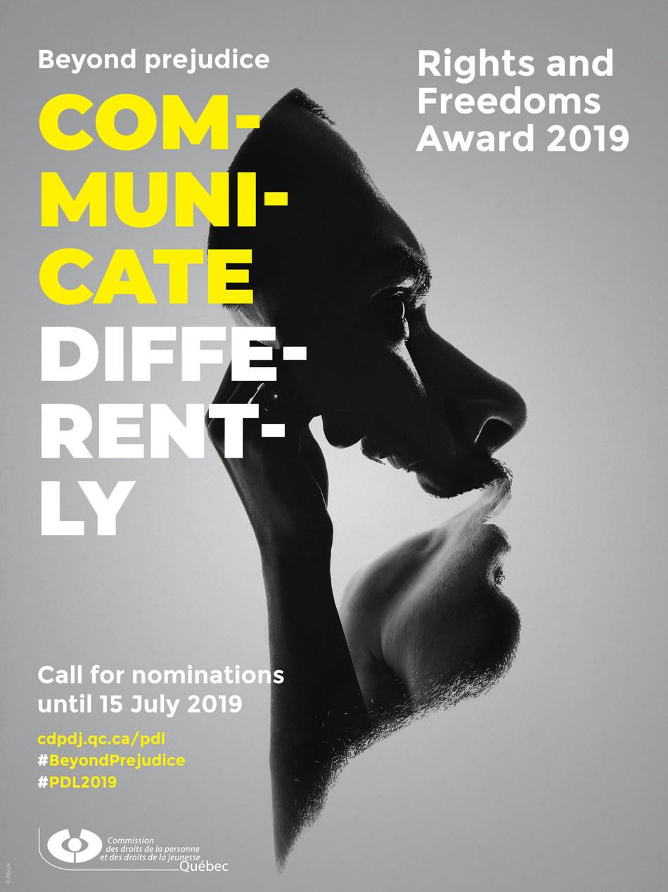 Rights and Freedoms Award 2019 (CNW Group/Commission des droits de la personne et des droits de la jeunesse)