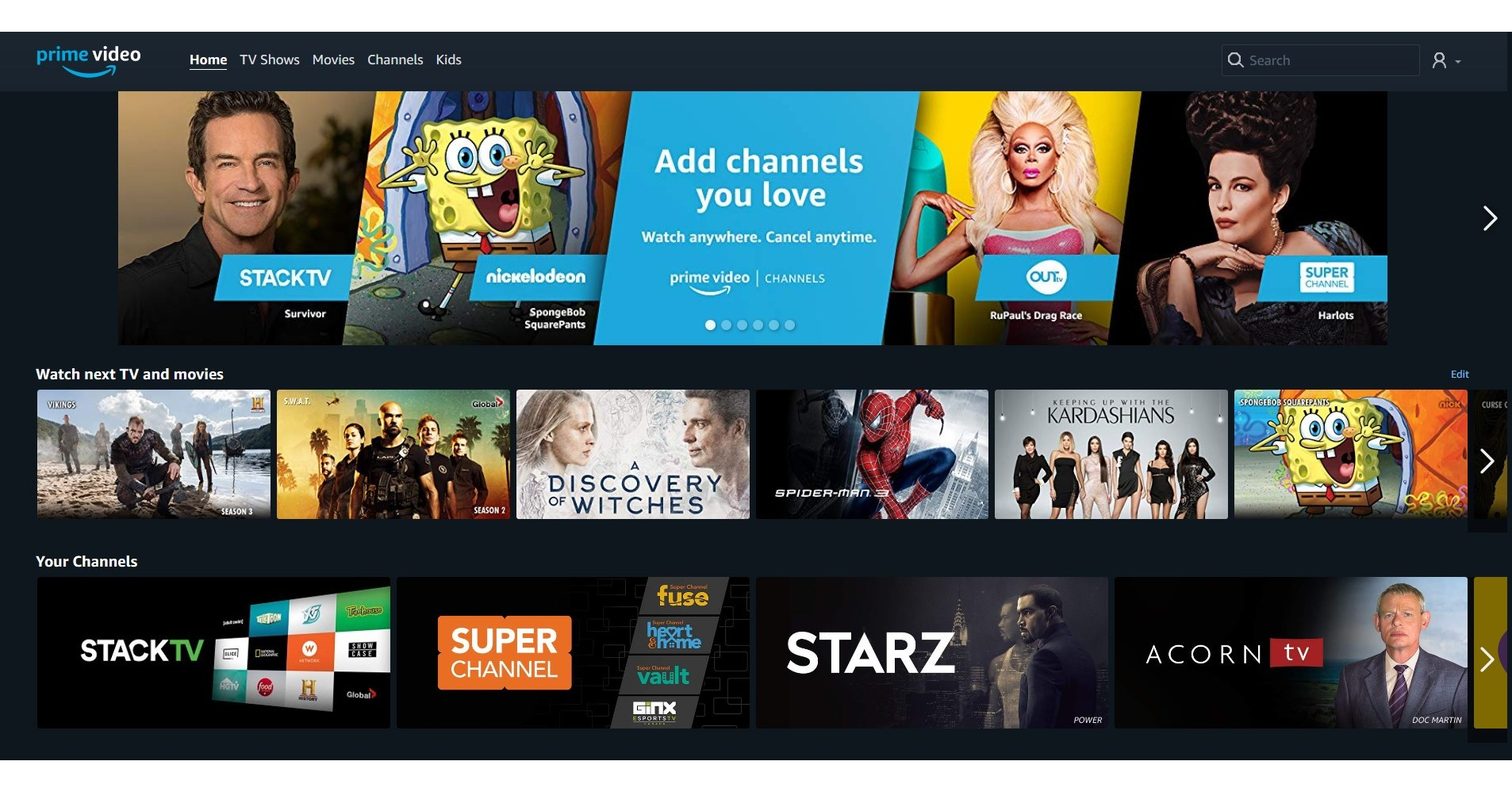 Amazon To Launch Prime Video Channels For Canada