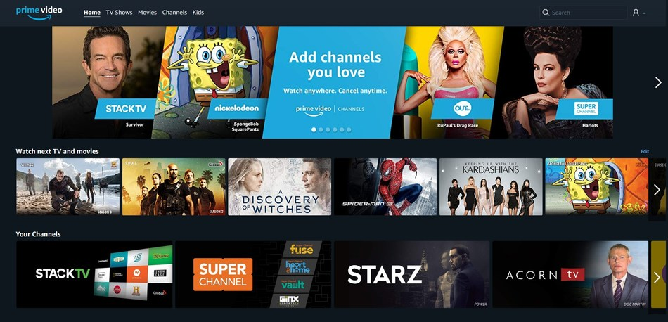 Prime Video Channels for Canada - Add channels you love. Watch anywhere. Cancel anytime. (CNW Group/Amazon Canada)