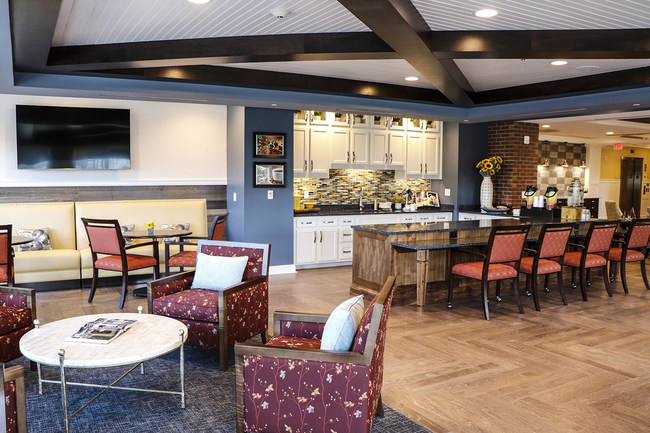 Bistro off the lobby of the Chelsea at Shrewsbury, Chelsea Senior Living's newest property in Shrewsbury, NJ
