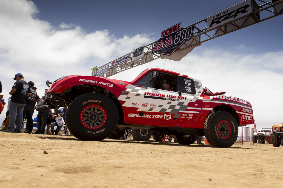 The Honda Off-Road Racing Team took their new Ridgeline Baja Race Truck to a Class 7 victory this weekend at the Baja 500.