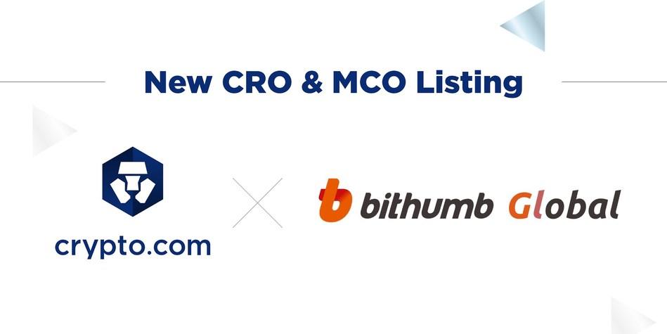 Crypto.com's CRO Token among the first tokens listed on Bithumb Global