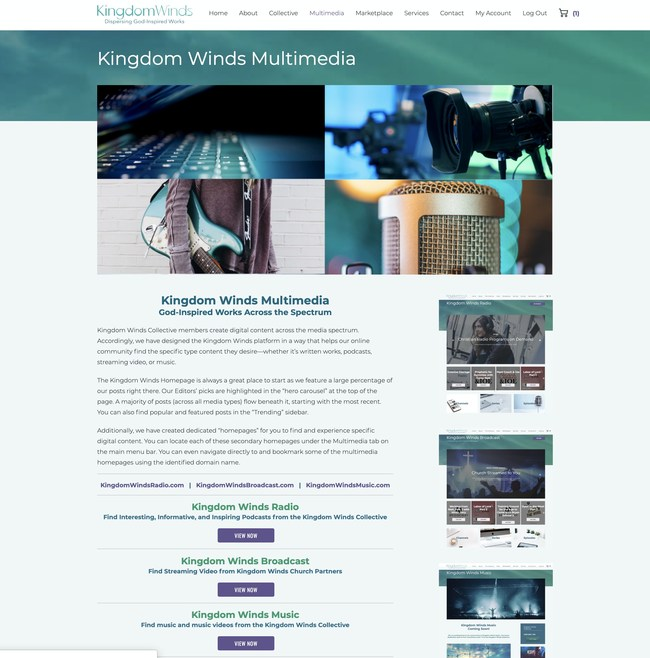 Kingdom Winds continues to make advancements in building a more robust multimedia platform with the launch of Kingdom Winds Radio and Kingdom Winds Broadcast as well as plans to roll out Kingdom Winds Radio in the coming months.