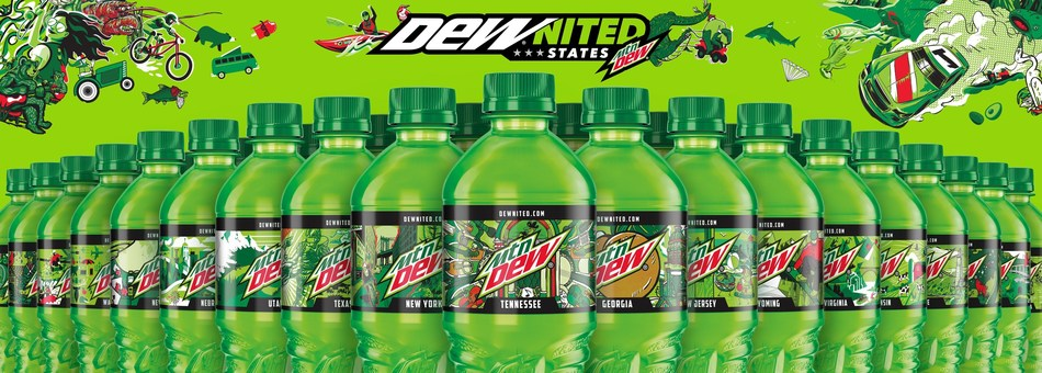 MTN DEW® is celebrating what makes the United States great this summer by releasing the DEWnited States Collection, a limited-edition bottle series representing all 50 states.