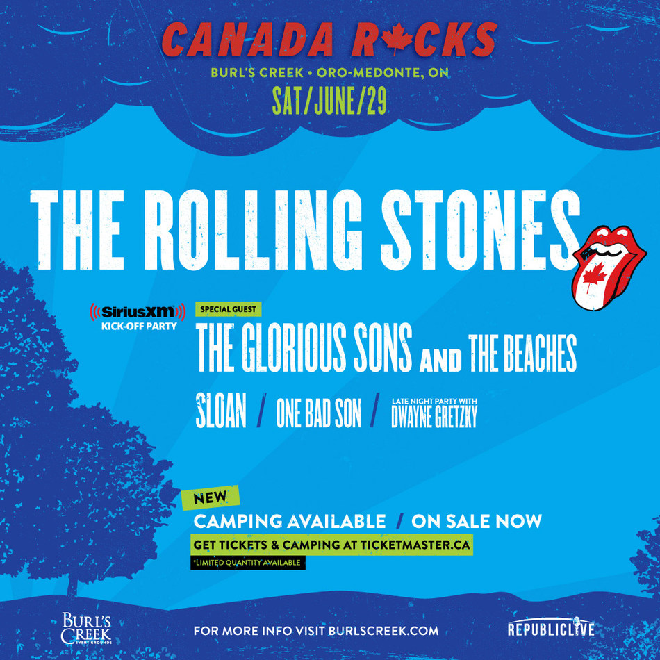Canada Rocks with The Rolling Stones Full Lineup (CNW Group/Republic Live Inc.)