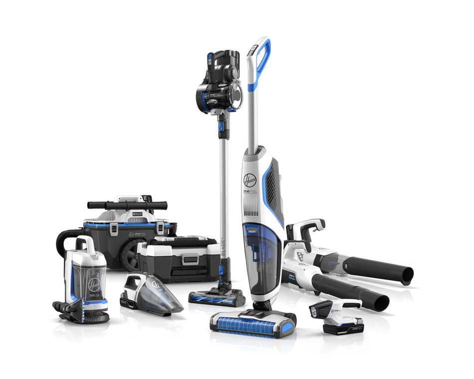 The HOOVER® ONEPWR™ Cordless System features nine high-performance, cord-free cleaning products that share the same powerful lithium-ion battery giving consumers the ultimate versatility to complete their cleaning routines with greater speed and ease. Every ONEPWR™ battery works with every ONEPWR™ product so consumers can build the cordless system that satisfies their unique cleaning needs.