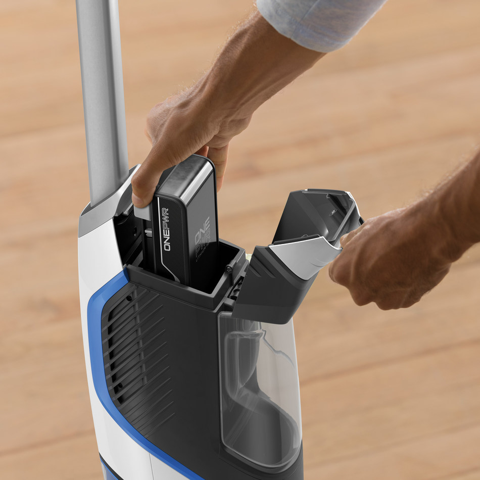 The HOOVER® ONEPWR™ Cordless System features nine high-performance, cord free cleaning products that share the same powerful lithium-ion battery. The removable and rechargeable ONEPWR™ battery can be easily swapped from product to product, giving consumers fade-free power across a variety of cleaning applications in and around the home.