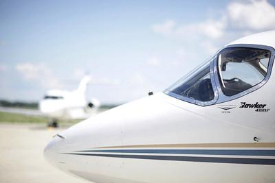 Exterior del Hawker 400XP (PRNewsfoto/Wheels Up)