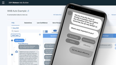 IBM Watson Ads Builder Can Bring the Power of DIY Conversational Design to Brands