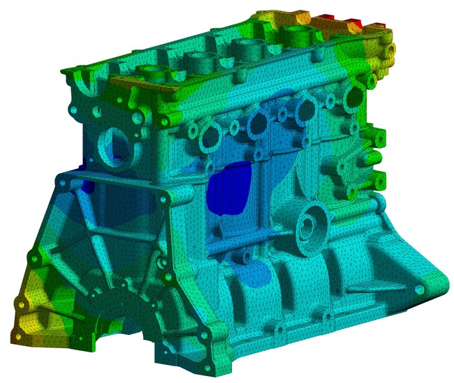 Natural frequency study of engine block in ANSYS Mechanical