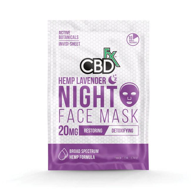 Lavender CBD Night Face Mask - 20mg