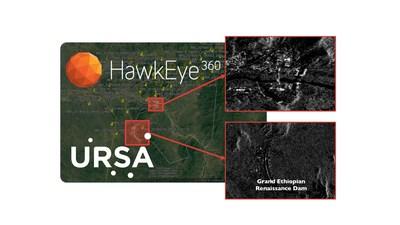 Ursa and HawkEye 360 Image of Ethiopian Dam