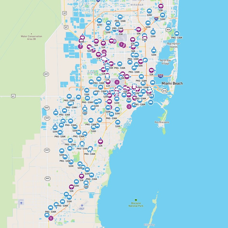 Miami overview of OOH inventory