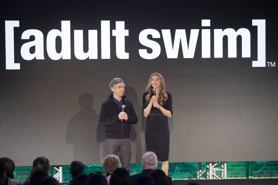 Chris Parnell and Sarah Chalke from Adult Swim's Rick and Morty tease the show's upcoming fourth season this fall (CNW Group/Corus Entertainment Inc.)