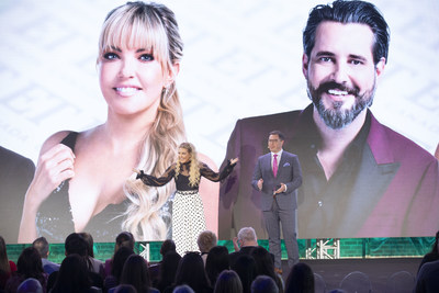Corus' EVP of Broadcast Networks, Troy Reeb, and the newly announced host of Big Home Overhaul Cheryl Hickey talk about Global's fall schedule (CNW Group/Corus Entertainment Inc.)
