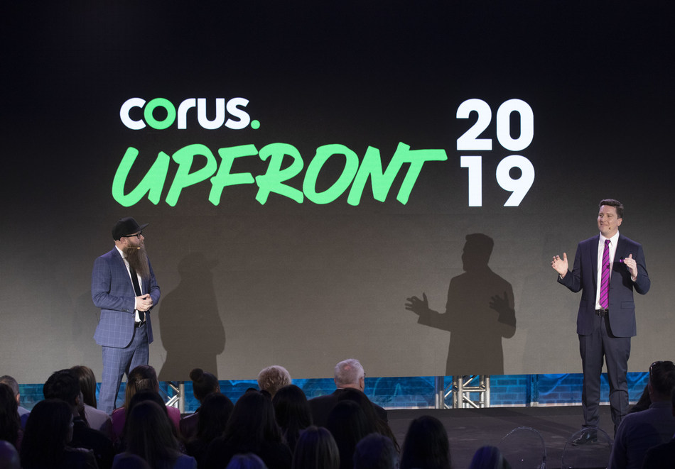 Drew Robinson, Corus' VP of Content Distribution, announces STACKTV – a multi-channel television package of 12 top tier linear networks from Corus, as part of Amazon's upcoming Prime Video Channels launch (CNW Group/Corus Entertainment Inc.)