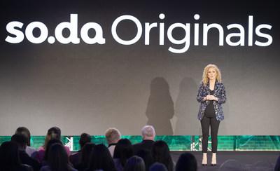 Dervla Kelly, Corus' SVP of Marketing and Head of so.da, unveils so.da originals – short form series that will run on Corus' powerful brands, across platforms (CNW Group/Corus Entertainment Inc.)