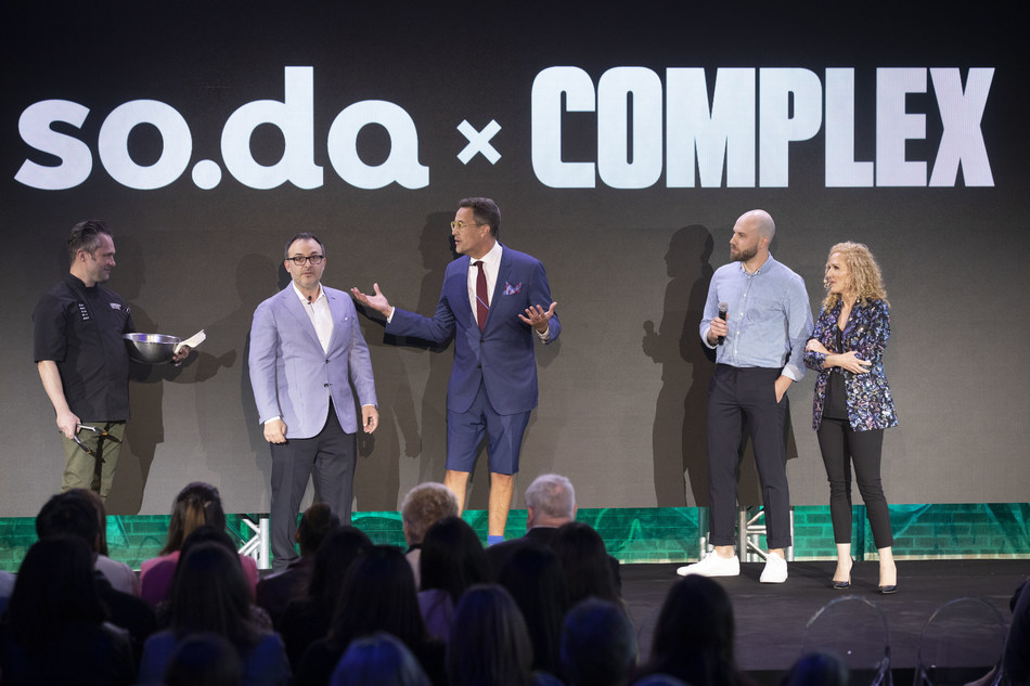 Dervla Kelly, Corus' SVP of Marketing and Head of so.da, is joined by Complex Networks' CEO Rich Antoniello to announce that Corus is bringing Complex Networks to Canada in 360° partnership (CNW Group/Corus Entertainment Inc.)