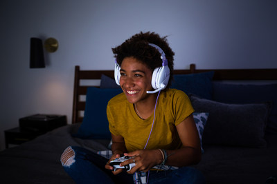 The all-new Recon Spark gaming headset. Dominating cross-platform gaming audio in a bold new lavender look.