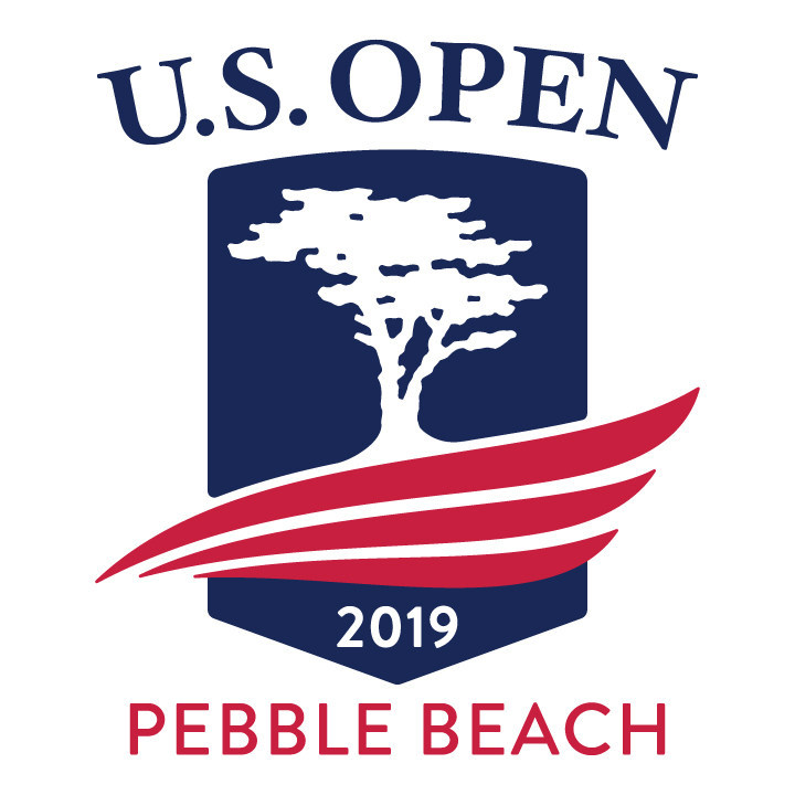 The 119th U.S. Open Championship at Pebble Beach logo, brand, and merchandising mark for the event debuting on FOX Sports from June 10-16, 2019. Designed and created by Hooray Agency, California, for Pebble Beach Company and the USGA. Hooray Agency is a full service design, strategy, and advertising agency focused on luxury, lifestyle, and hospitality brands.
