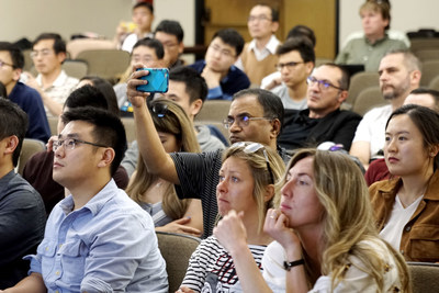 A rapt audience was keenly listening to the guest speakers at SEED AWARD held at Stanford University