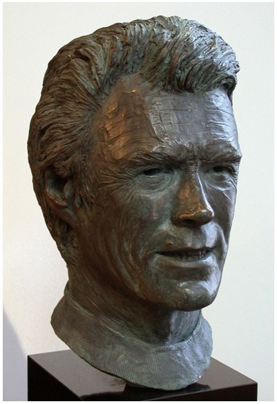 Attention film buffs and Clint Eastwood fans!! Here is the sculpture of one of the greatest film actors and directors of all time, CLINT EASTWOOD (Circa 1980's). A larger than life size bust that exquisitely captures his remarkable persona.