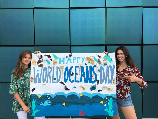 Youth celebrate World Oceans Day 2018 in Denmark.