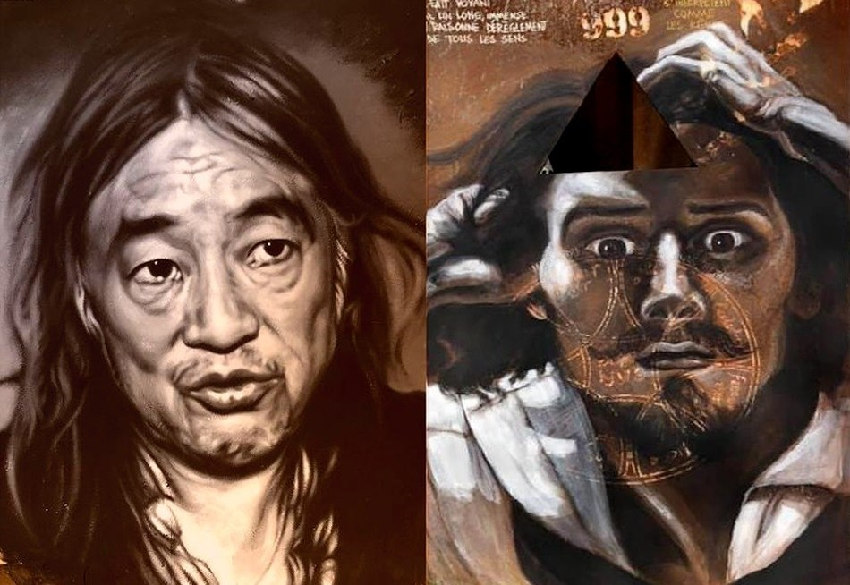 thierry Erhmann, Collective Work: The Abode of Chaos / La Demeure du Chaos. Yan Pei-Ming (left) and Gustave Courbet (right)