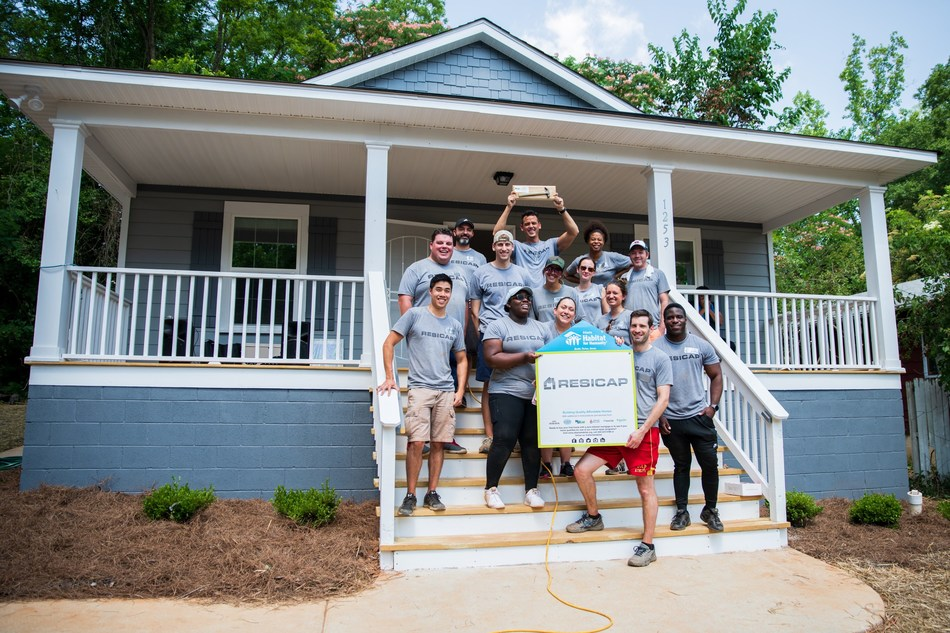 The RESICAP team completes a full house build with Habitat for Humanity.