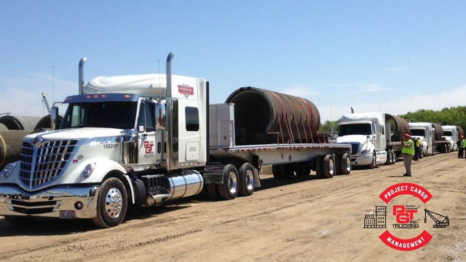 PGT Trucking's Project Cargo Management Division manages and transports project cargo safely to exceed customer expectations.
