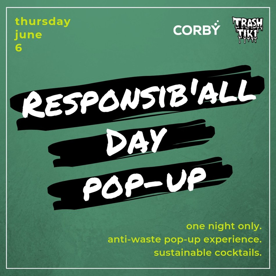 Corby marks 9th annual Responsib'All Day by launching Canada's first nation-wide sustainability pop-up bar (CNW Group/Corby Spirit and Wine Communications)