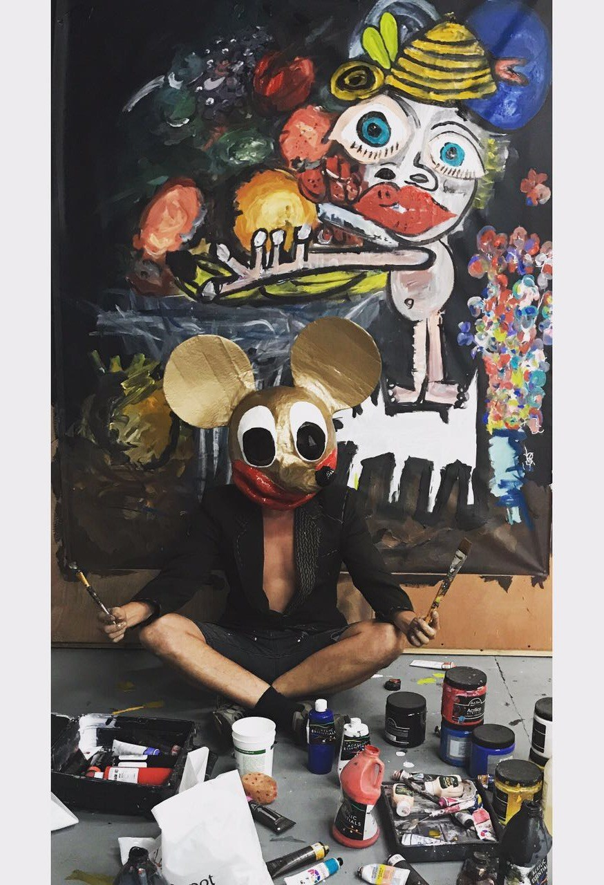 In studio with John Paul Fauves, preparing 'All is Lost' Solo Exhibition in Los Angeles opening May 23rd, 2019