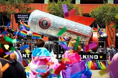 Chipotle at the 2018 LA Pride parade (PRNewsfoto/Chipotle Mexican Grill)